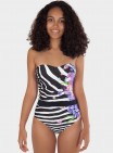 CaicaiBelted Strapless Maillot