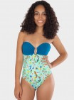 Deep Back Strapless Maillot